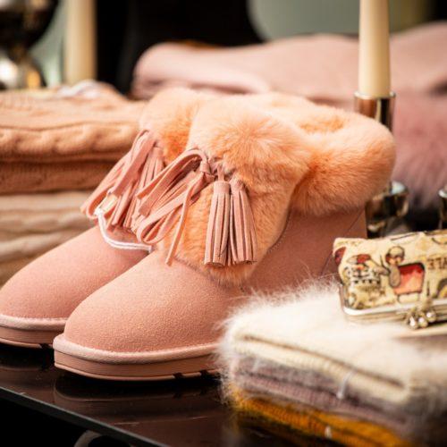 Rosarote Schuhe